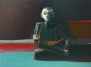 Shilo Ratner_Simple Man_Man in Meditation_11inchesx14inches_Inprogress