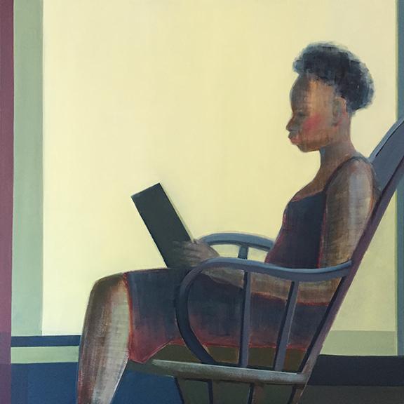 "Leisure, 36"" x 36"", Oil on Canvas"
