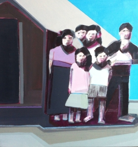 Artist Shilo Ratner_Work in Progress_Family_12inx12in_Panel