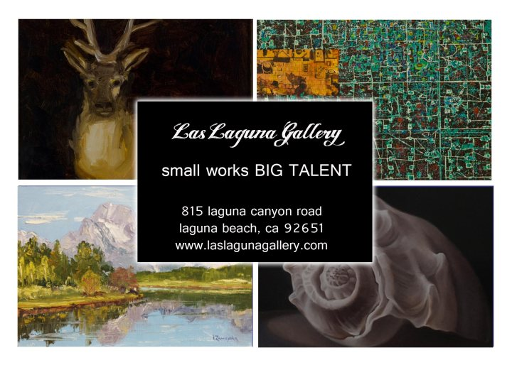 Las Laguna Gallery in Laguna Beach_small-works---BIG-TALENT-postcard