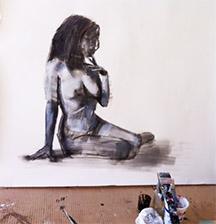 Shilo Ratner_Large Figure_Work on Paper In Progress 1
