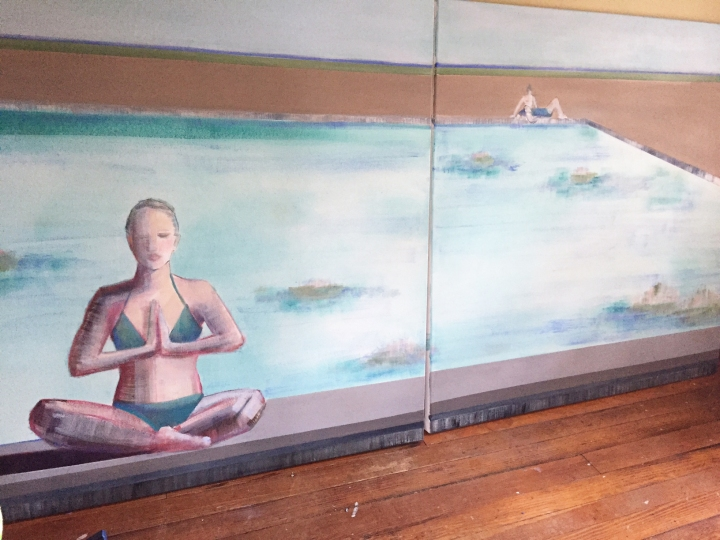 Artist Shilo Ratner_4ftx8ft_oil on canvas_diptych work in progress