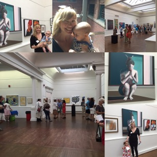 Collage of Slater Memorial Museum Exhibit