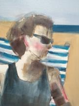 "Artist: Shilo Ratner, Detail: Cape Cod Days inprogress, 48"" x 36"", Oil on Canvas"