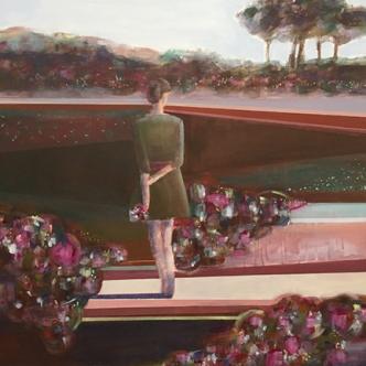 """On the Path, 36"""" x 36"""", Acrylic on Canvas"""