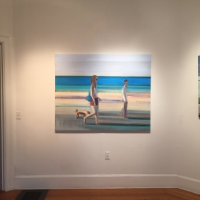 "Beach Walk, 48 x 60"", Oil on Canavas"