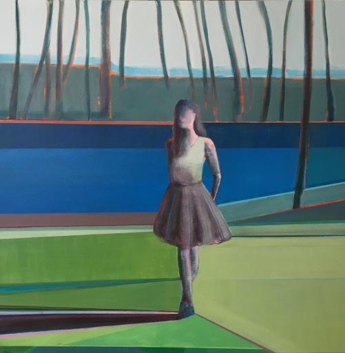 """""""Chai"""", 36 x 36"""", Acrylic on Canvas"""