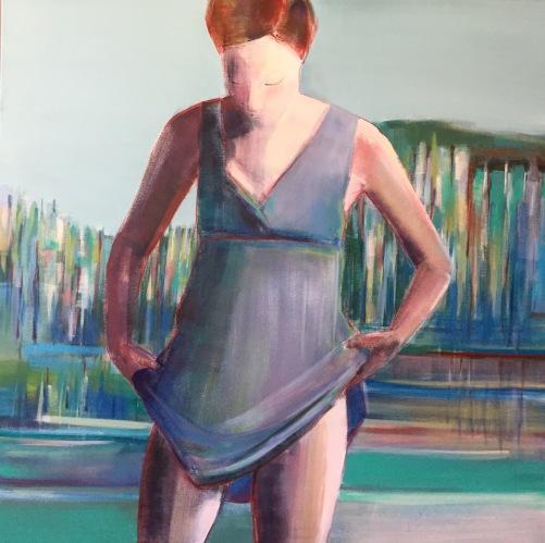 """Summer Day"", 36 x 36"", Acrylic on Canvas"