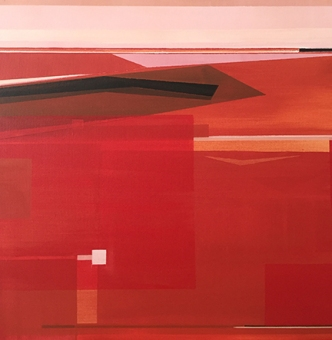 "No. 214, 20 x 20"" , Acrylic on Canvas"