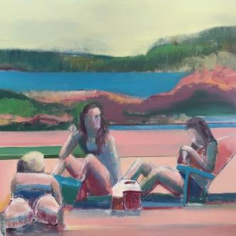 """""""Beachside"""", 36"""" x 36"""", Oil on Canvas"""