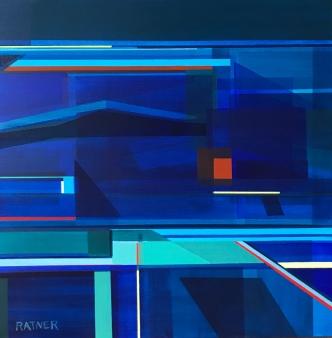 """Littoral No. 329,"" 20 x 20"", Acrylic on Canvas"